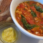 Chickpea-spinach stew