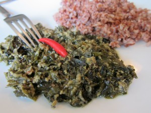 Veg Laing with Organic Red Rice