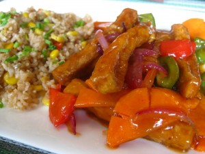 Sweet and sour tofu big