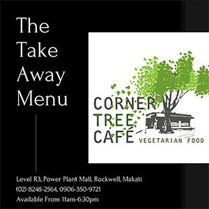 Corner Tree Cafe Take-away Menu